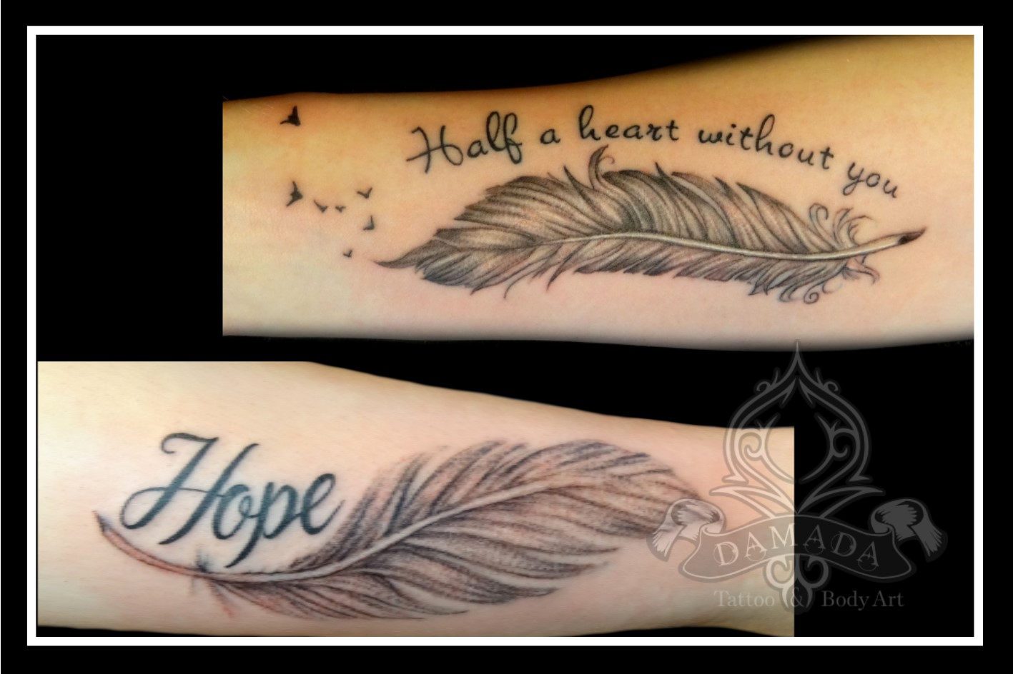 Feather text