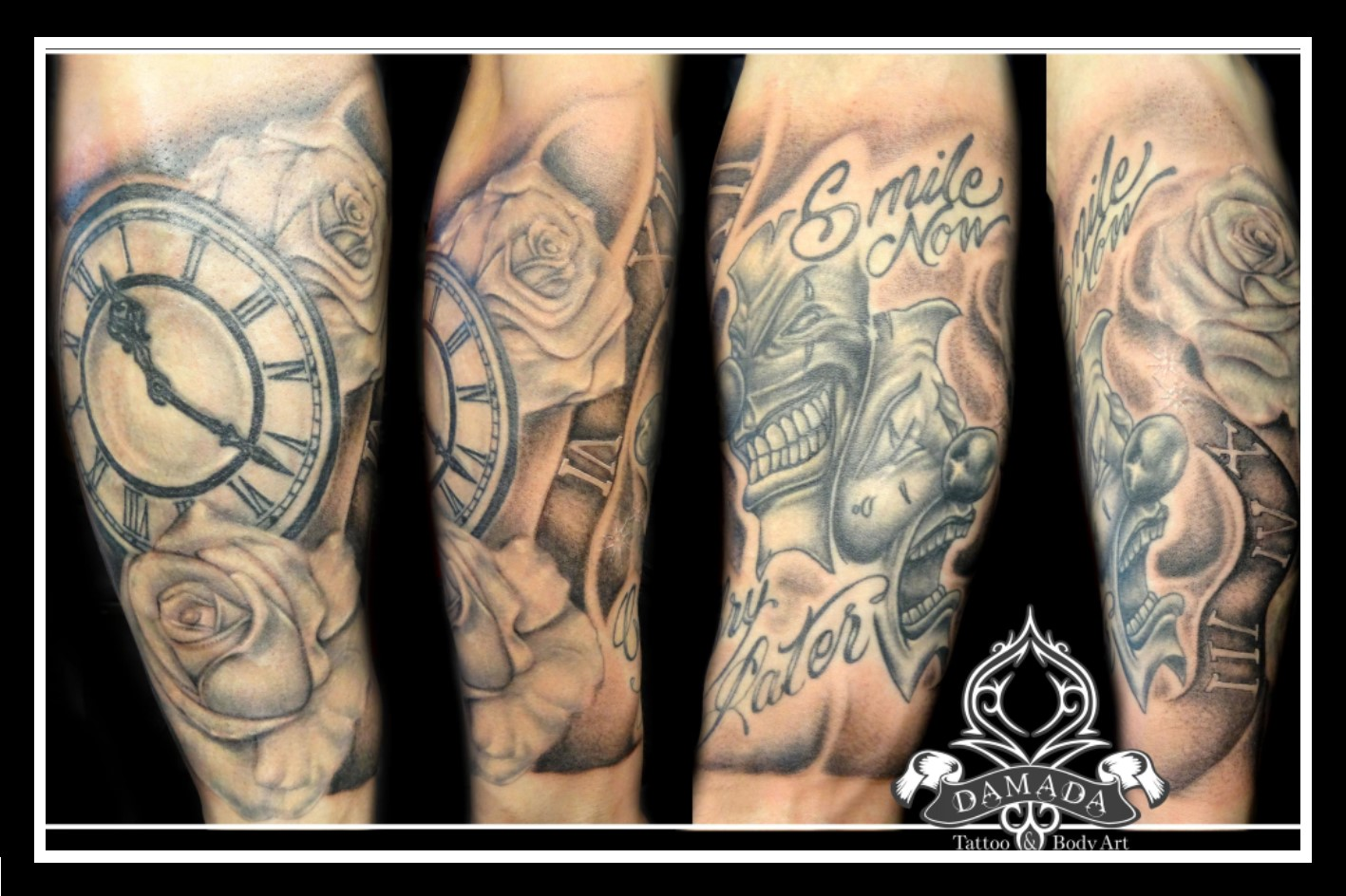 Pocket Watch Roses Smile Now