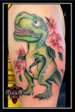 Dino-with-Flowers