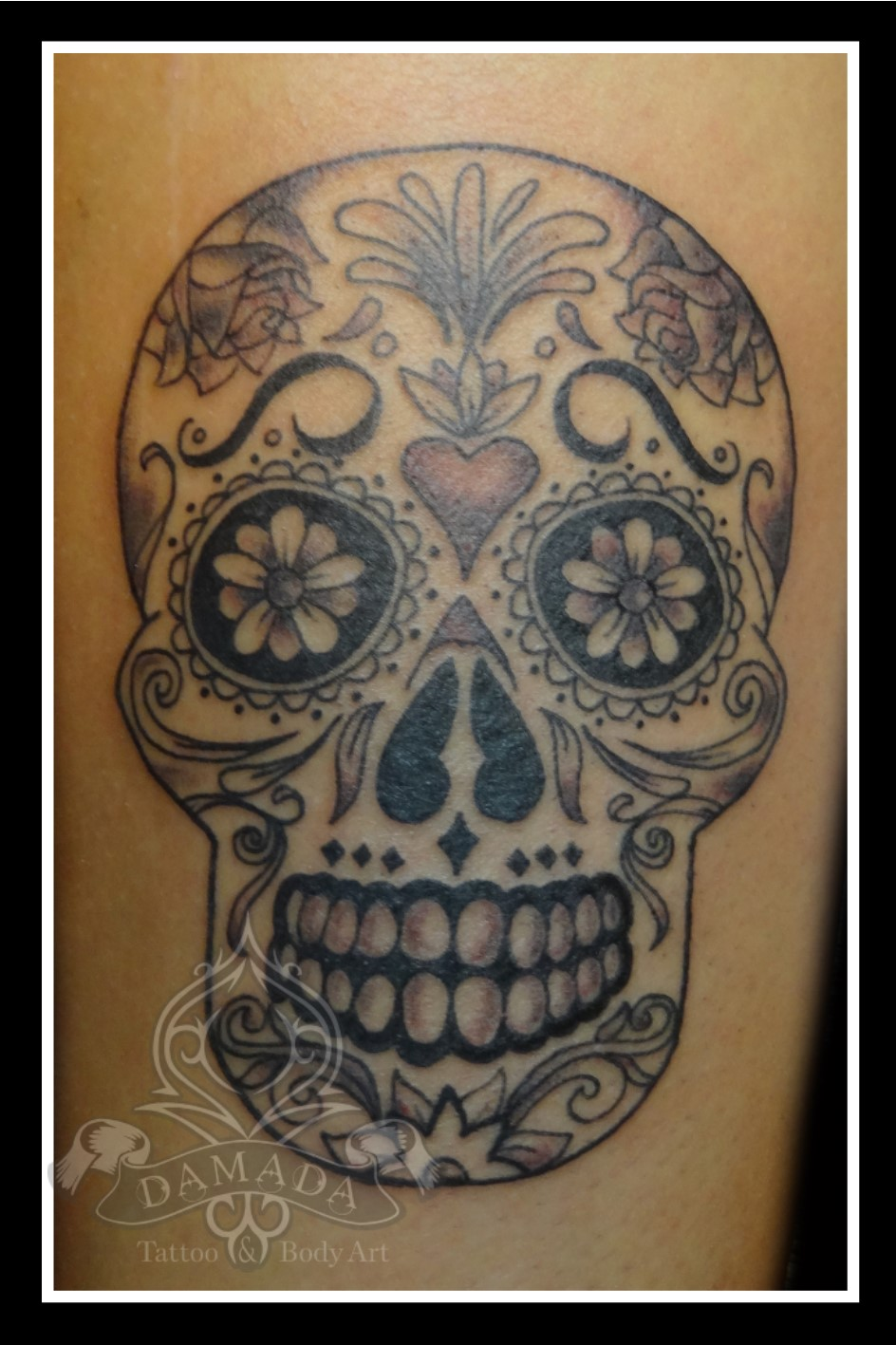 Sugar Skull Black and Grey