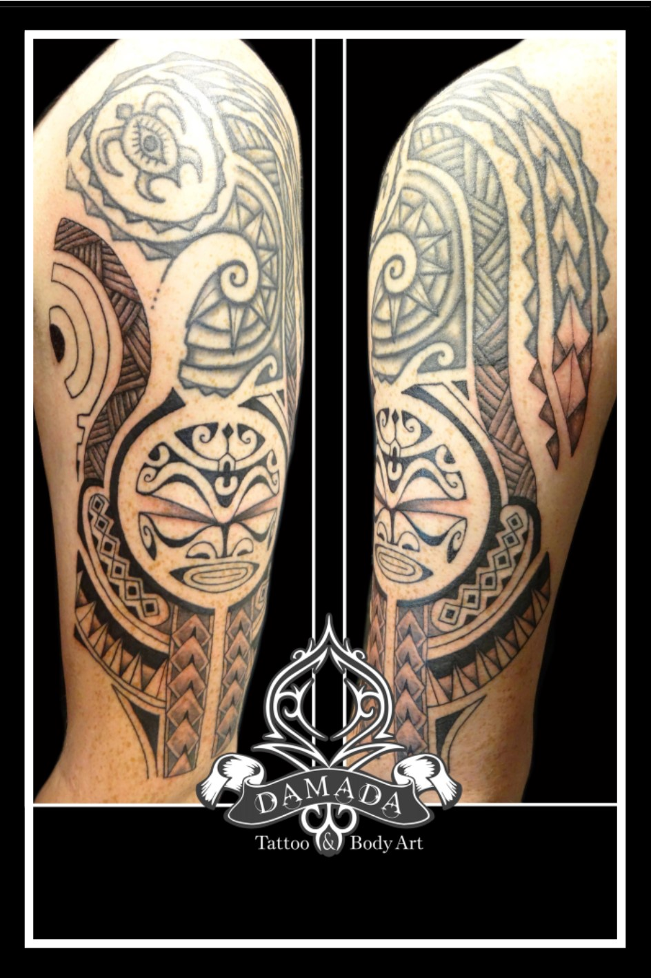 Polynesian half sleeve with tiki