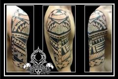 Samoan half sleeve
