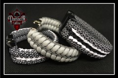 Paracord-Armbanden-Black-Grey-White