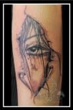 Eye through skin