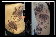 Roses filigree ribs