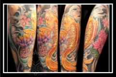 Oriental half sleeve
